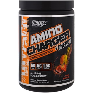 Nutrex Research Labs, Amino Charger + Energy, Fruit Punch, 11.3 oz (321 g)