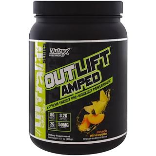 Nutrex Research, Outlift Amped, энергия перед тренировкой, персик-ананас, 15,7 унц. (446 г)