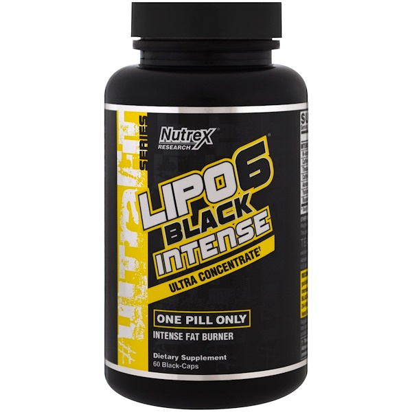 Nutrex Research, Lipo-6 Black Intense, Ultra Concentrate, 60 Black-Caps  (Discontinued Item)