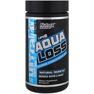 Nutrex Research, Aqualoss, Maximum Strength Water Loss, 80 Capsules