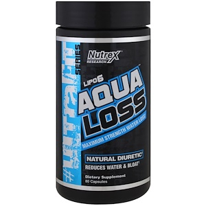 Нутрекс Ресерч Лаб, Aqualoss, Maximum Strength Water Loss, 80 Capsules отзывы