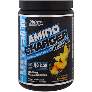Nutrex Research Labs, Amino Charger + Hydration, Peach Pineapple , 12.7 oz (360 g)