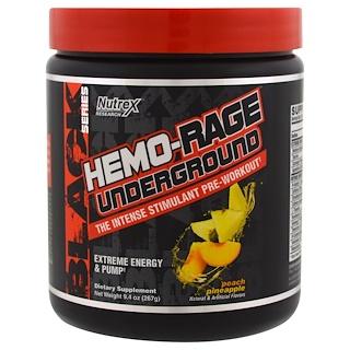 Nutrex Research, Black Series, Hemo-Rage Underground, Peach Pineapple, 9.4 oz (267 g)