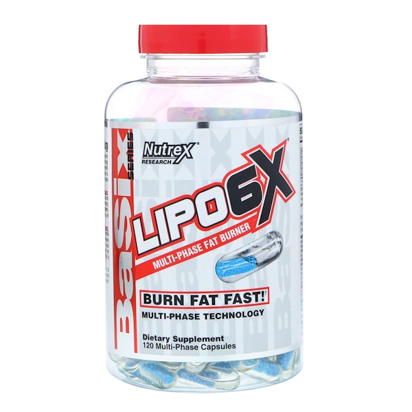 Nutrex Research, Basix Series, Lipo-6X, 120 Capsules