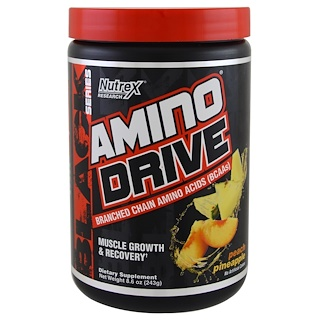 Nutrex Research Labs, Black Series, Amino Drive, Peach Pineapple, 8.6 oz (243 g)