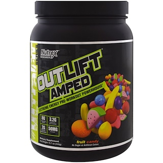 Nutrex Research Labs, Outlift Amped, Pre-Workout Powerhouse, Fruit Candy, 15.7 oz (444 g)