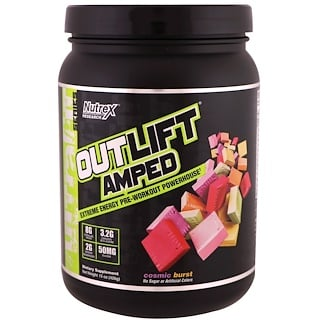 Nutrex Research Labs, Outlift Amped, Pre-Workout Powerhouse, Cosmic Burst, 15 oz (426 g)