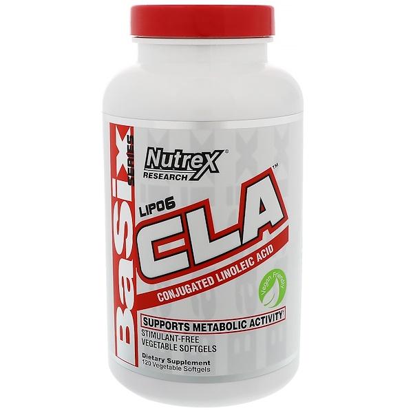Nutrex Research, Lipo-6 CLA,120 粒素食膠囊