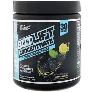 Nutrex Research, Outlift Concentrate, Explosive Performance Pre-Workout, Blackberry Lemonade, 6.5 oz (183 g)