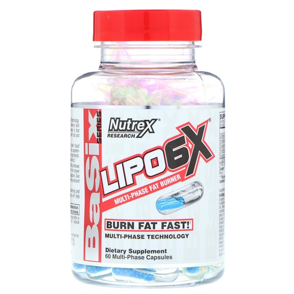 Nutrex Research, Lipo-6X, Multi-Phase Fat Burner, 60 Capsules (Discontinued Item)