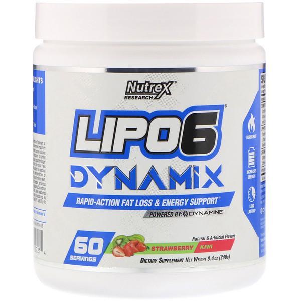 Lipo-6 Dynamix, Morango e Kiwi, 8,4 oz (240 g)