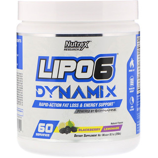 Nutrex Research, Lipo-6 Dynamix, Blackberry Lemonade, 9.1 oz (258 g)
