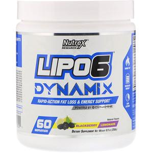 Нутрекс Ресерч Лаб, Lipo-6 Dynamix, Blackberry Lemonade, 9.1 oz (258 g) отзывы