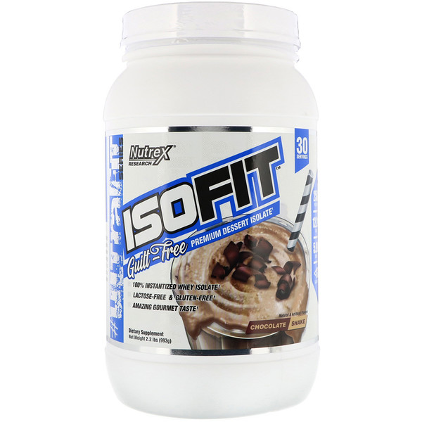 Nutrex Research, Isofit, Shake de Chocolate, 2,2 lbs (993 g) (Discontinued Item)