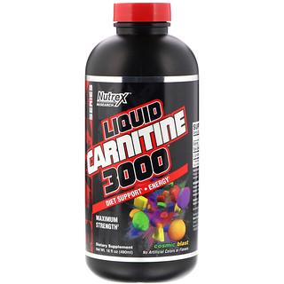 Nutrex Research, Liquid Carnitine 3000, Cosmic Blast, 16 fl oz (480 ml)