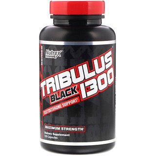 Nutrex Research, Tribulus Black 1300, Testosterone Support, 120 Capsules