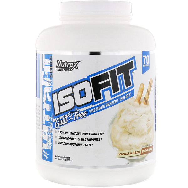 Nutrex Research, IsoFit, Vanilla Bean Ice Cream, 5 lbs (2261 g)