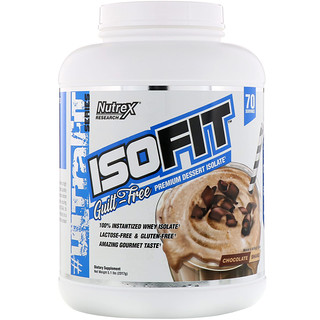 Nutrex Research, IsoFit, Chocolate Shake, 5 lbs (2261 g)