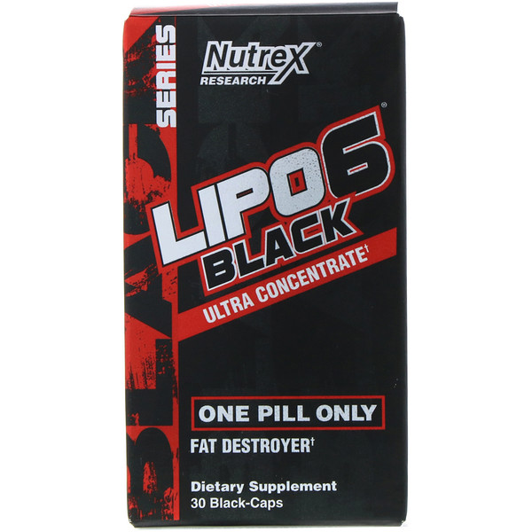Nutrex Research, LIPO-6 Black, Ultra Concentrate, 30 Black-Caps