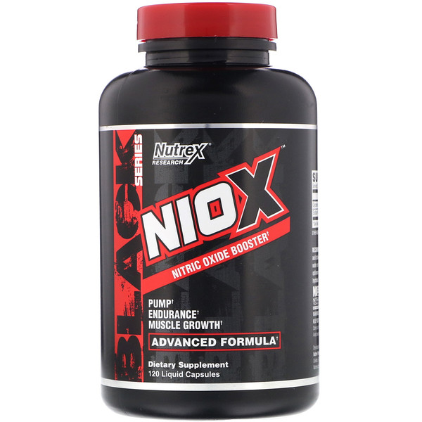 Nutrex Research, Niox, Nitric Oxide Booster, 120 Liquid Capsules (Discontinued Item)