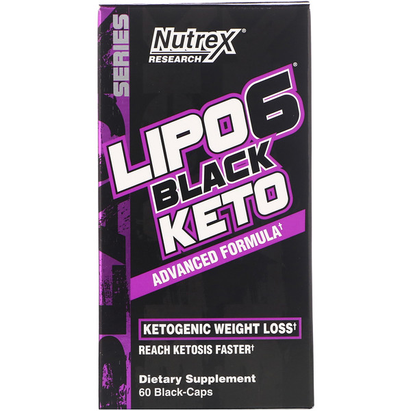Nutrex Research, LIPO-6 Black Keto, Advanced Formula, 60 Black-Caps