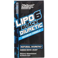 Nutrex Research, LIPO-6 Black Diuretic,80 粒黑色膠囊