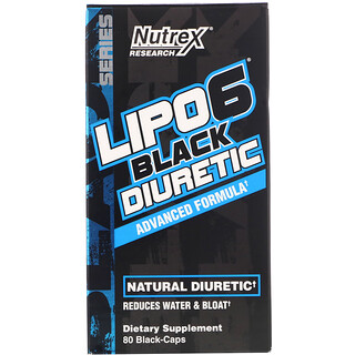 Nutrex Research, LIPO-6 Black Diuretic, 80 Black-Caps