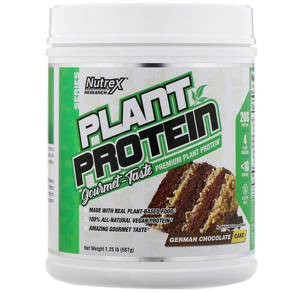 Natural Series, Plant Protein, German Chocolate Cake, 1.25 lb (567 g)