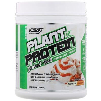 Купить Nutrex Research Серия Natural, растительный протеин, ваниль-карамель, 540г