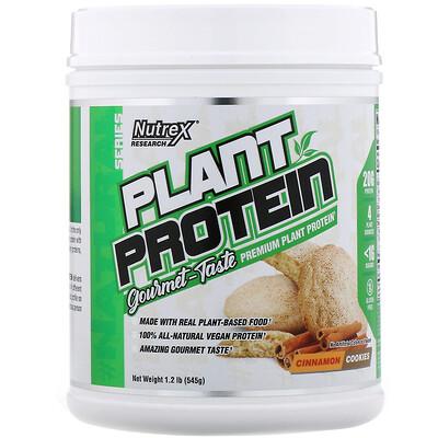 Купить Nutrex Research Серия Natural, растительный протеин, печенье с корицей, 545г