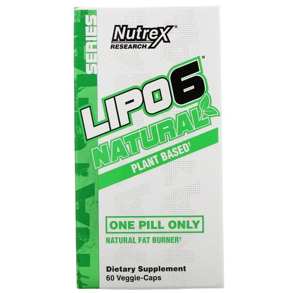Natural Series, LIPO-6 Natural Fat Burner, Plant Based, 60 Veggie-Caps