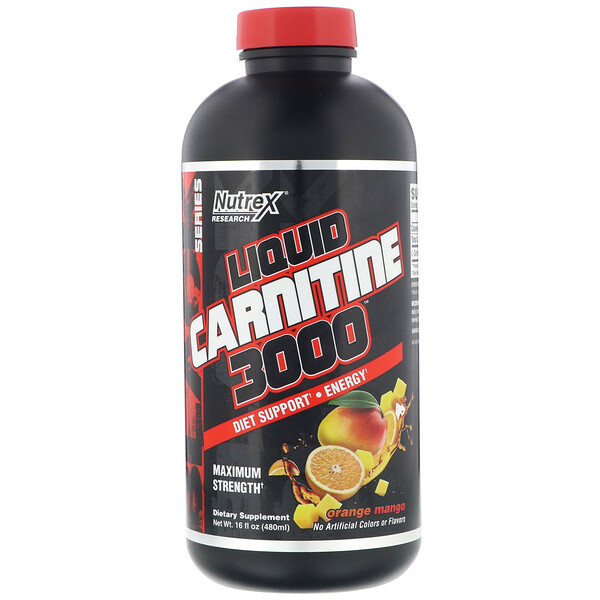 Liquid Carnitine 3000, Orange Mango, 16 fl oz (480 ml)
