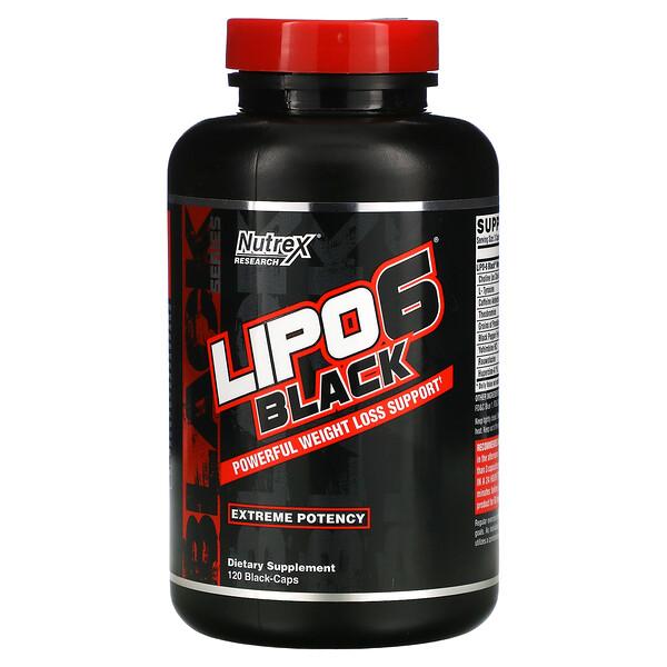 LIPO-6 Black, Extreme Potency, 120 Black-Caps