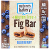 Nature's Bakery, Barra de higo libre de gluten, arándano, 6 paquetes dobles, 2 oz cada una