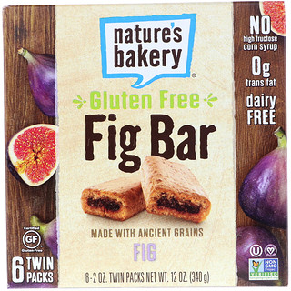 Nature's Bakery, Gluten Free Fig Bar, Fig, 6 Twin Packs, 2 oz Each