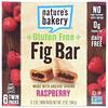 Nature's Bakery, Barra de higo libre de gluten, frambuesa, 6 paquetes dobles, 2 oz cada una