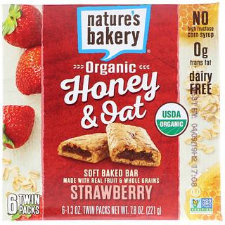 Nature's Bakery, الشوفان مع العسل العضوي، قالب طري مخبوز، فراولة، 6 عبوات ثنائية، 1.3 أونصة لكل قالب
