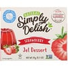 Natural Simply Delish, Natural Jel Dessert, Strawberry, 0.7 oz (20 g)