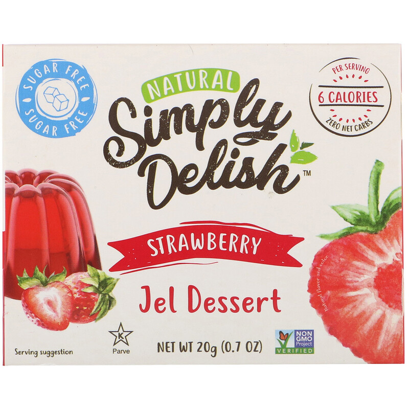 Natural Simply Delish, Natural Jel Dessert, Strawberry, 0.7 oz (20 g)