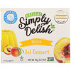 Natural Simply Delish, Natural Jel Dessert, Peach, 0.7 oz (20 g)