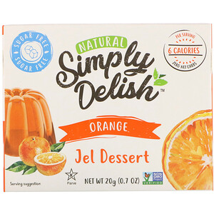 Natural Simply Delish, Natural Jel Dessert, Orange, 0.7 oz (20 g