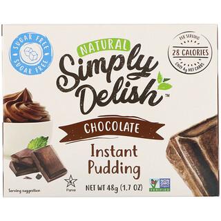 Natural Simply Delish, 천연 인스턴트 푸딩, 초콜릿, 48g(1.7oz)