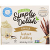 Natural Simply Delish, Natural Instant Pudding, Vanilla, 1.7 oz (48 g)