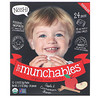 NosH!, Tot Munchables, Organic Rice Snacks, Apple & Cinnamon Flavor, 12 Packs, 0.18 oz (5 g) Each