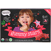 NosH!, Toddler Gummy Stars, Organic Fruit & Veggie Snacks, Apple, Strawberry & Beet, 5 Packs, 0.5 oz (14 g) Each