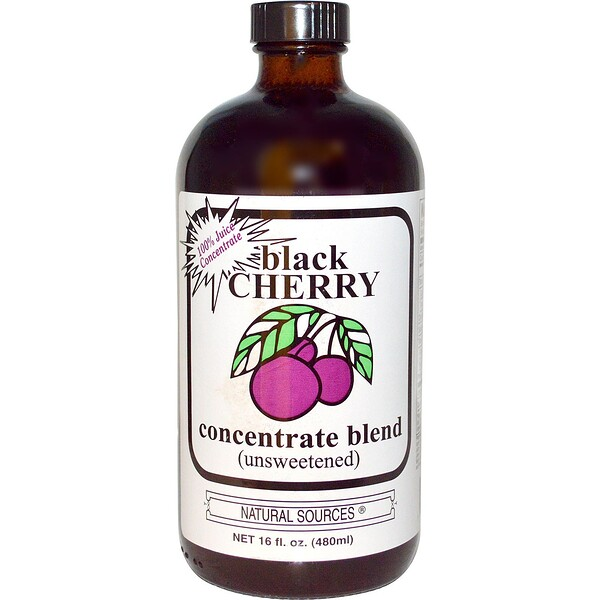 Black Cherry Concentrate Blend, Unsweetened, 16 fl oz (480 ml)
