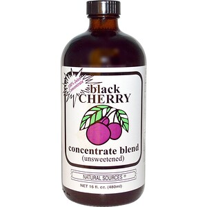 Натурал Соурсес, Black Cherry Concentrate Blend, Unsweetened, 16 fl oz (480 ml) отзывы покупателей