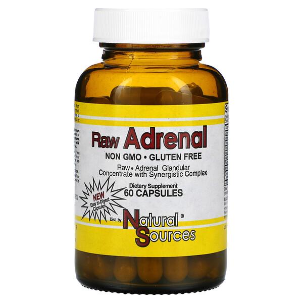 Adrenal Sin procesar, 60 Cápsulas