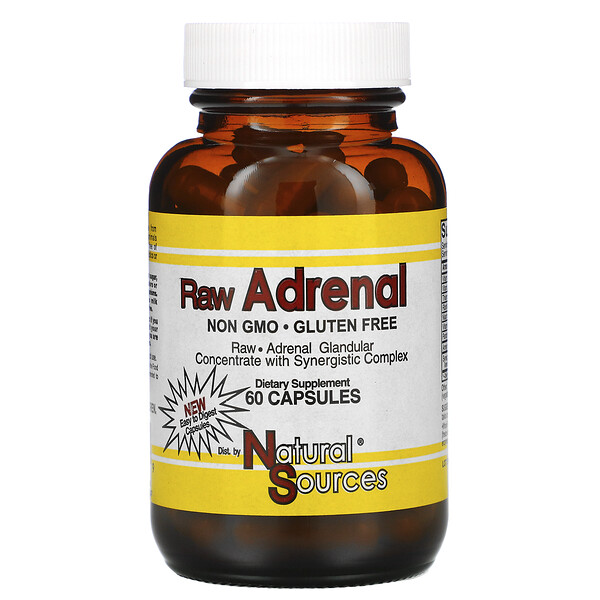 Raw Adrenal, 60 Capsules