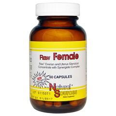 Natural Sources, Raw Female, 60 Capsules